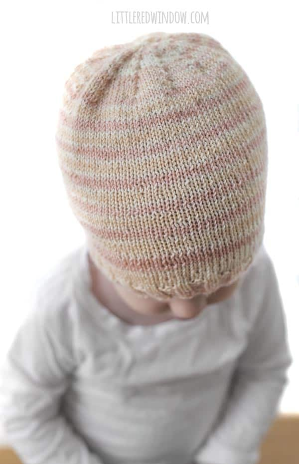 The Sock Yarn Hat knitting pattern is a great way to show off your gorgeous sock or fingering weight yarn!