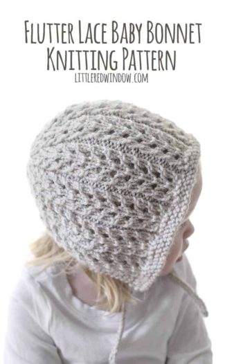 The Flutter Lace Bonnet Knitting Pattern is an easy and gorgeous pattern for babies & toddlers, you need this pattern!