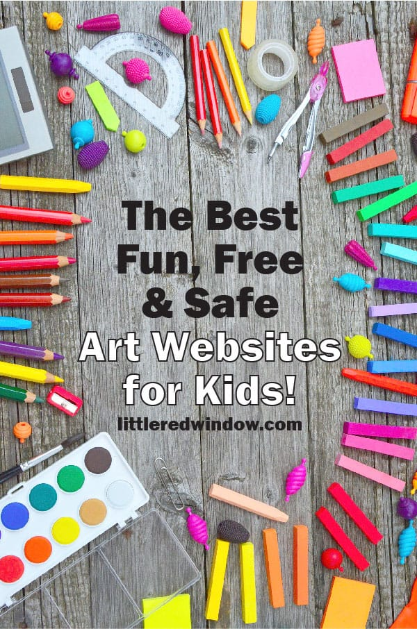 The Best Fun, Free ( and Safe) Online Art Lessons for Kids! These sites are all full of fun ideas, inspiration and tutorials that will definitely keep your creative kid occupied for hours!