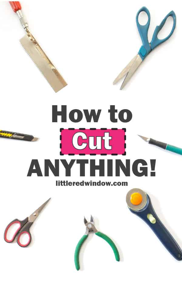 Learn how to cut anything in your craft room & make sure you have the right tool for the job!