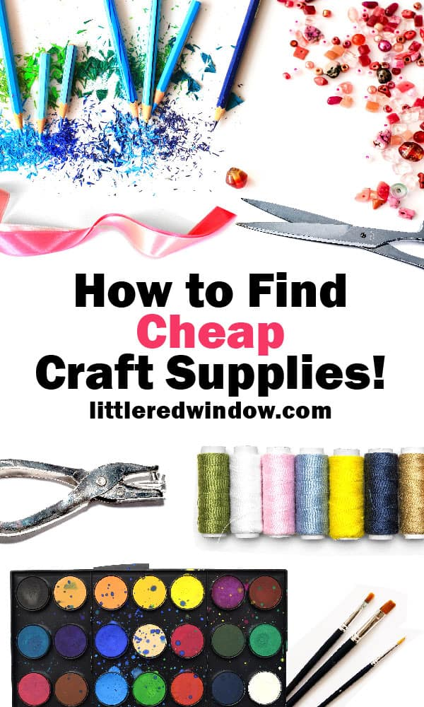 Whether you're shopping online or in person, we've got all the deals, tips and tricks to find the best deals on cheap craft supplies!