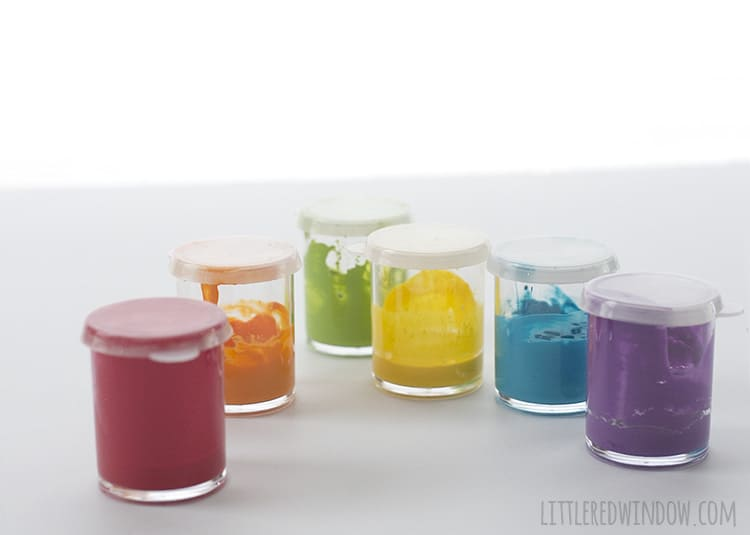 Pretty rainbow craft paints for all your crafty projects!