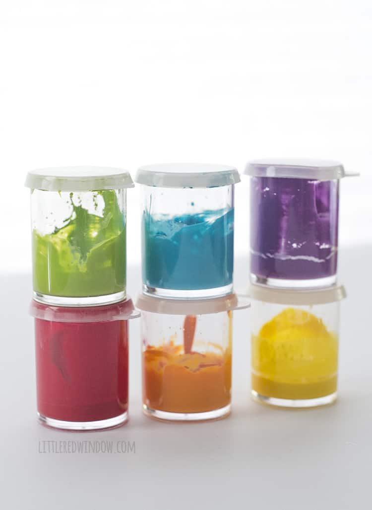 Colorful craft paint like this can be used for lots of different projects!