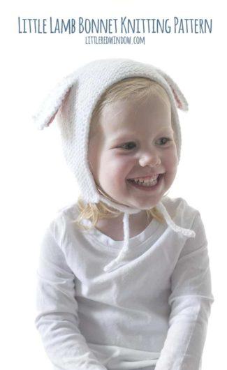 Little Lamb Bonnet Knitting Pattern