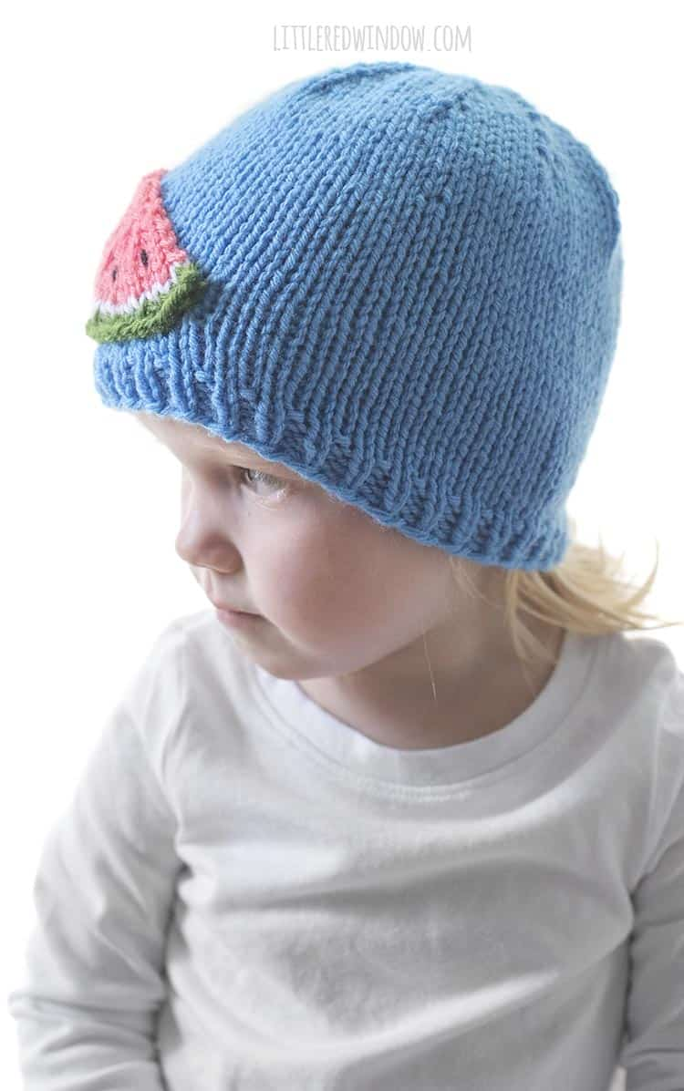 If you love watermelon (who doesn't?) you need to knit up the Watermelon Slice Hat knitting pattern ASAP!