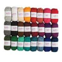 Knit Picks Brava Mini Pack Worsted Premium Acrylic Yarn - 24 Pack (25g Minis, Jewel)