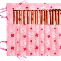 Fairycece Bamboo Knitting Needles Set Knitting Needle Case Knitting Kits for Beginners