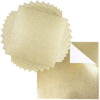 "Premium 20 Sheets Glitter Cardstock 12"" x 12"" - Use For Scrapbooking - Holidays - Weddings - Birthdays - Surprise Parties - 300GSM For Paper Cutting Bending Or Shaping (Gold, 20 Pack)"