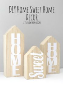 These cute DIY Home Sweet Home decor blocks make a great housewarming gift and they're so easy to make!