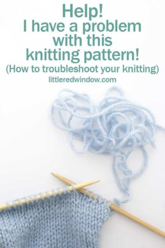 Help, I Have a Problem with a Knitting Pattern!