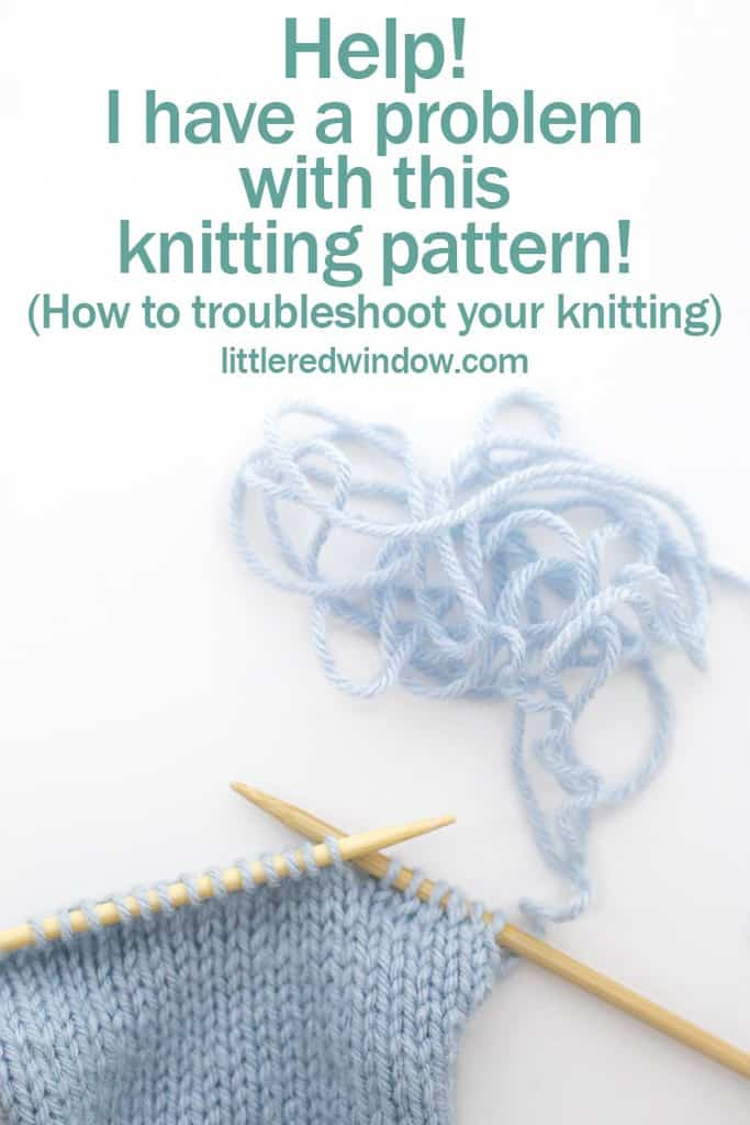 What do you do when you have a problem with your knitting project?