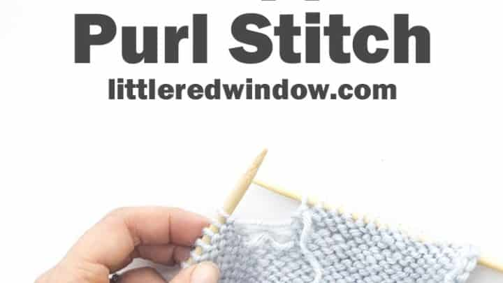 Learn To Knit Fix A Dropped Purl Sch Little Red Window