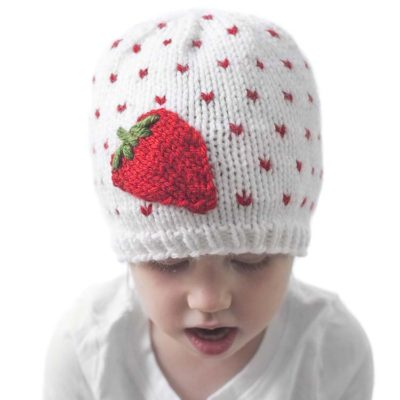 Fresh Strawberry Hat Knitting Pattern
