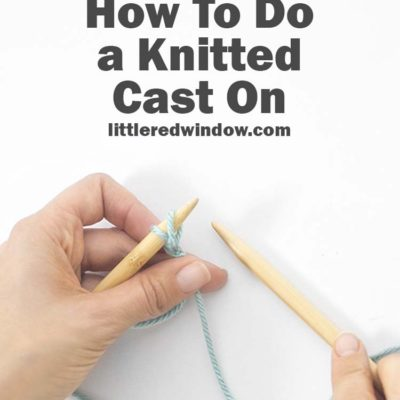 Learn to Knit – Knitted Cast on