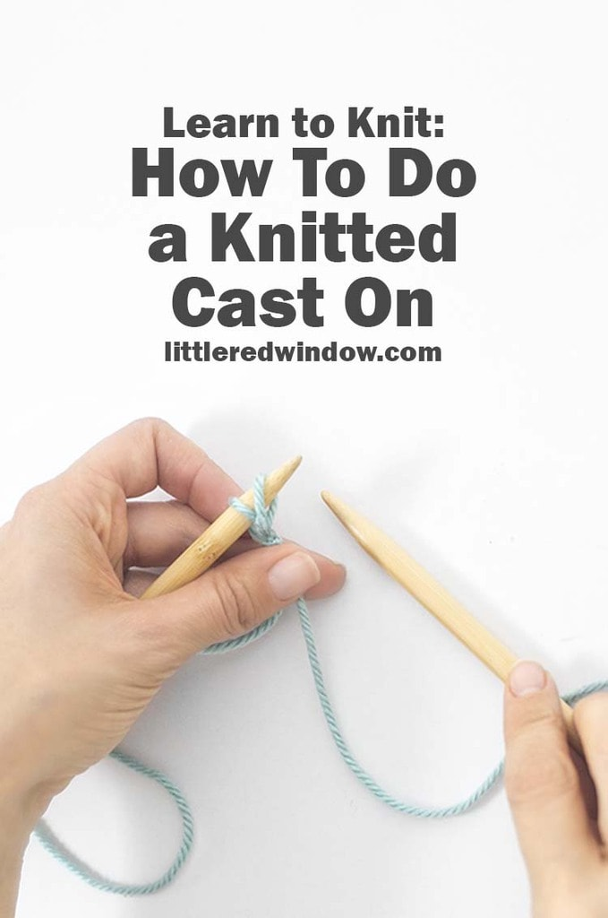 Learn how to start your knitting projects with an easy knitted cast on!