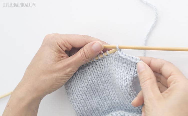Learn how to finish your knitting project and bind off knit stitches!