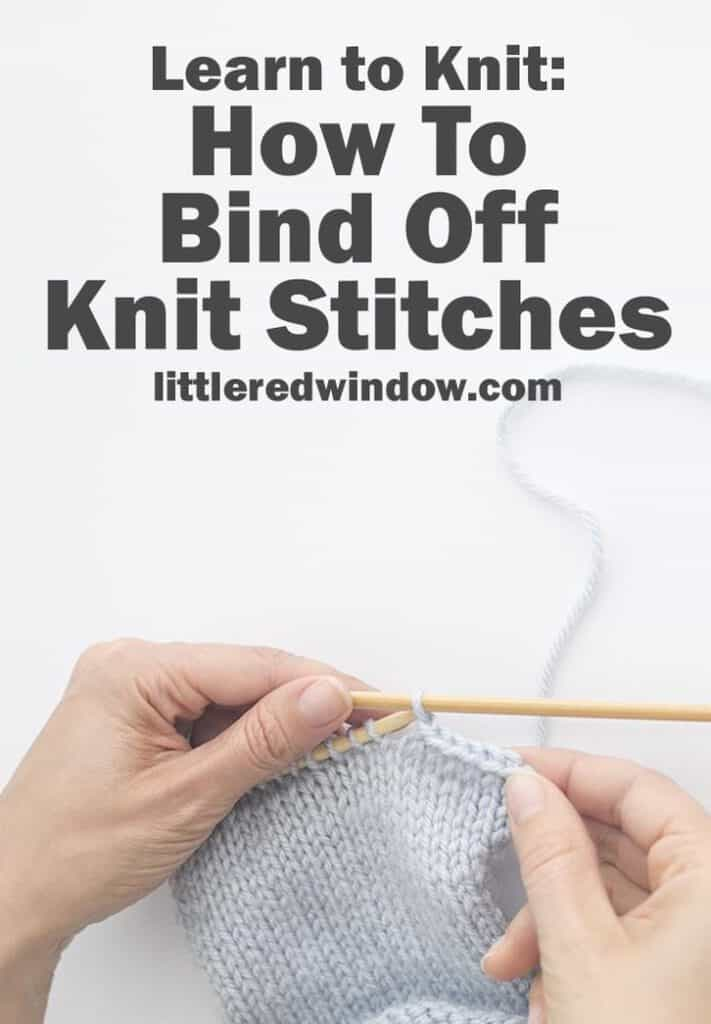 How To Bind Off Knit Stitches