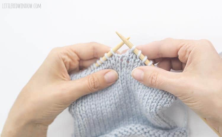 An skp decrease is a left-leaning decrease stitch in knitting