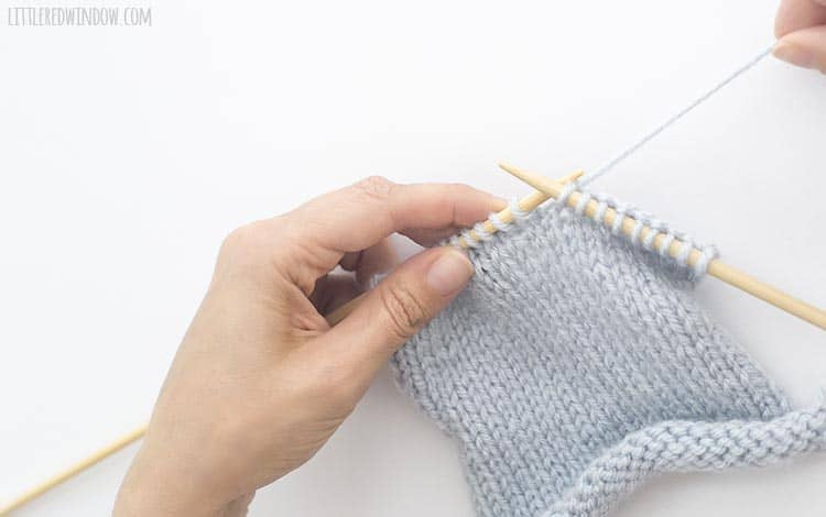 To k2togtbl, start with the yarn behind your work