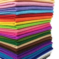 "Misscrafts 28pcs 8"" x 12"" (20cm x 30cm) 1.4mm Thick Soft Felt Nonwoven Fabric Sheet Pack DIY Craft Patchwork Sewing Square Assorted Colors with Thread Bag"