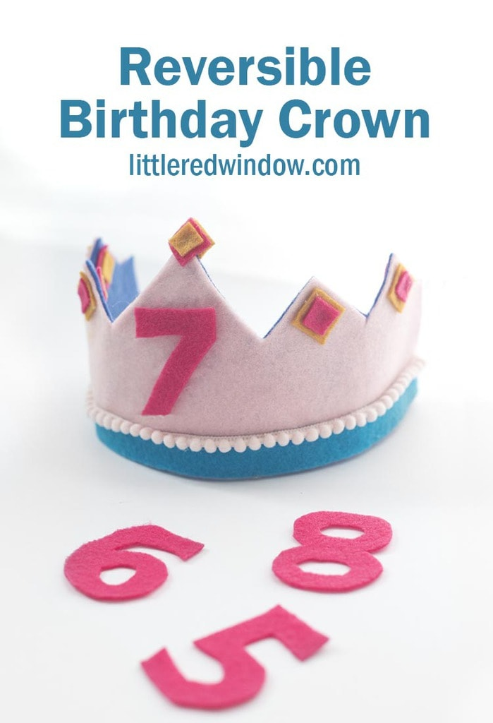 Make an adorable reversible birthday crown that you can reuse year after year!