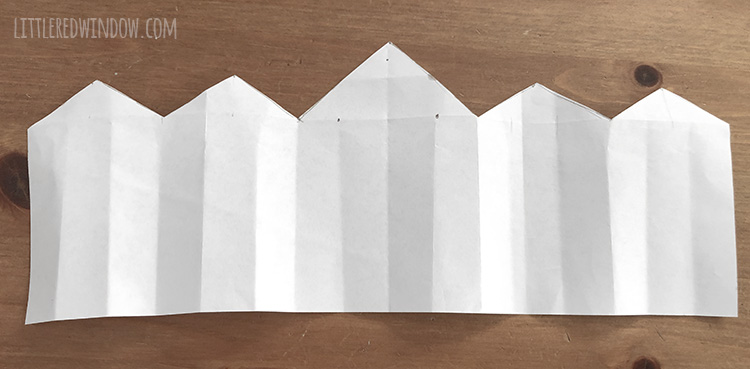 paper birthday crown template