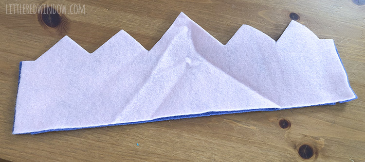 To make a reversible birthday crown, use the paper template to cut two crown shapes out of felt