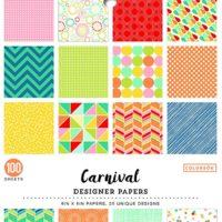 "Colorbok Carnival Designer Paper Pad, 6"" x 6"","