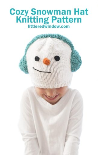 Cozy Snowman Hat Knitting Pattern