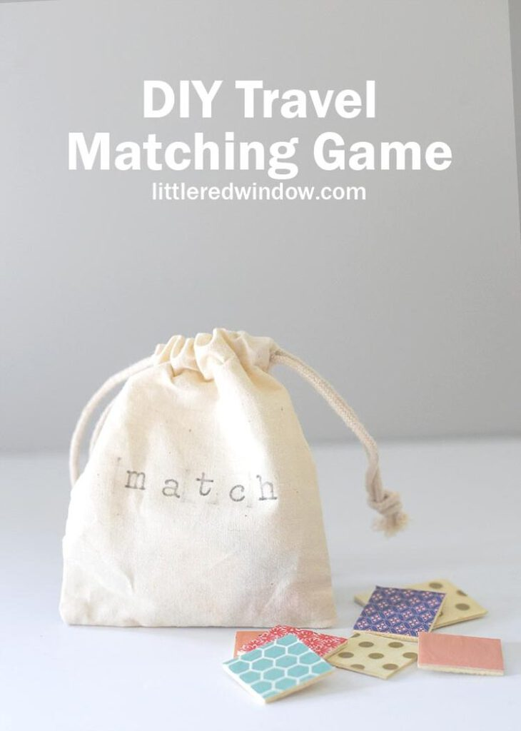 Keep this cute DIY travel matching game stashed in your bag, it's perfect for any time you're waiting around and need to keep your kids occupied!