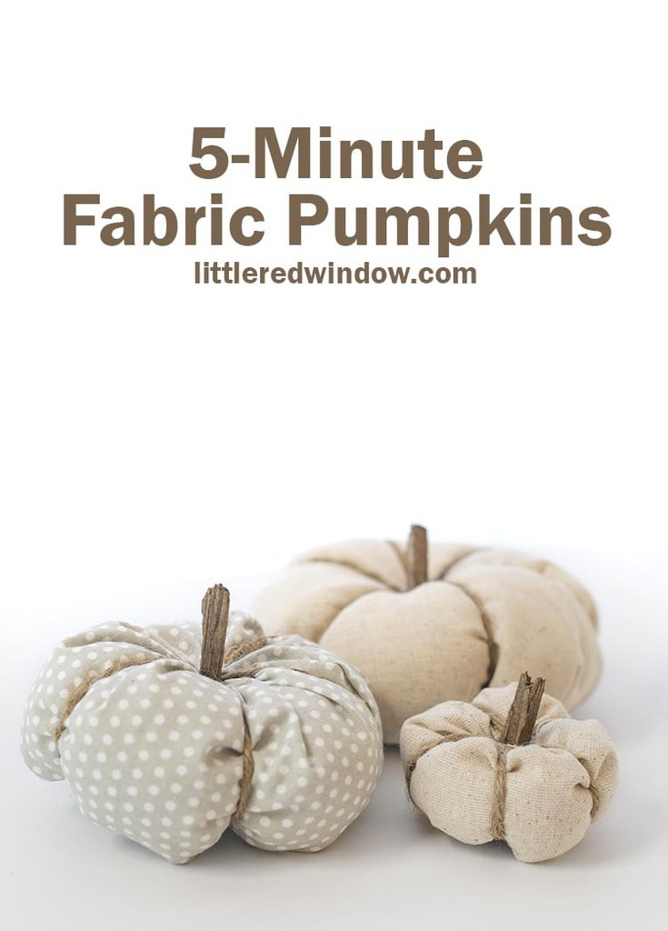 These super easy 5-minute fabric pumpkins are the perfect fall home decor, make them in any color and size in just a few minutes!