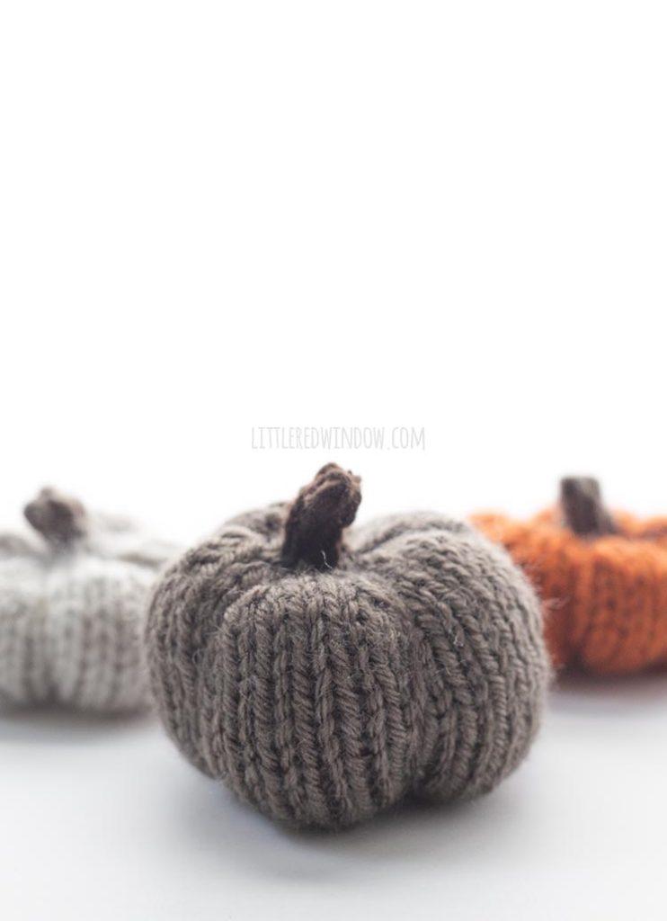 Little brown knit pumpkin!