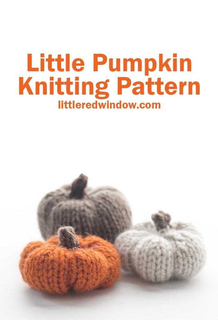 The Little pumpkin knitting pattern, the perfect adorable fall home decor accessory, you can knit them up in just a few minutes!