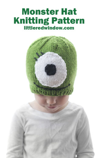 Little Monster Hat Knitting Pattern