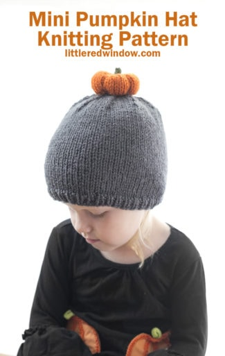Mini Pumpkin Hat Knitting Pattern