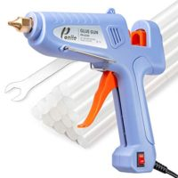 Poniie PN-G100 Dual Temp 60/100W Power Hot Melt Glue Gun Full Size with 12pcs Premium Glue Sticks for DIY Arts & Crafts, Christmas Decoration, Sealing/Repairs