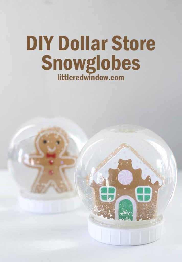 Easy DIY Dollar Store Snowglobes, get the tips and tricks to make sure your DIY snowglobe works!