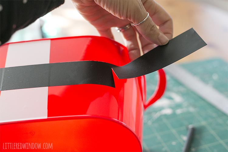 It's easy to apply vinyl to a craft project by hand even without expensive transfer tape!
