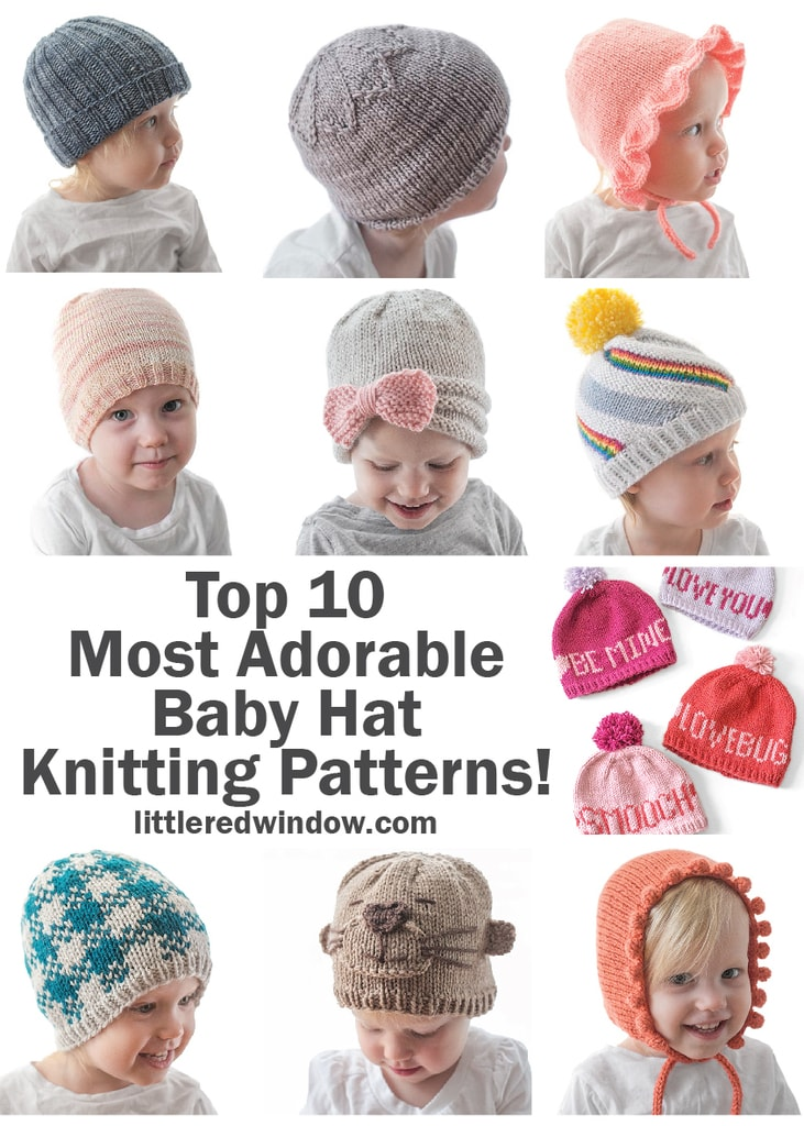 You'll love all 10 of these crazy adorable baby hat knitting patterns!