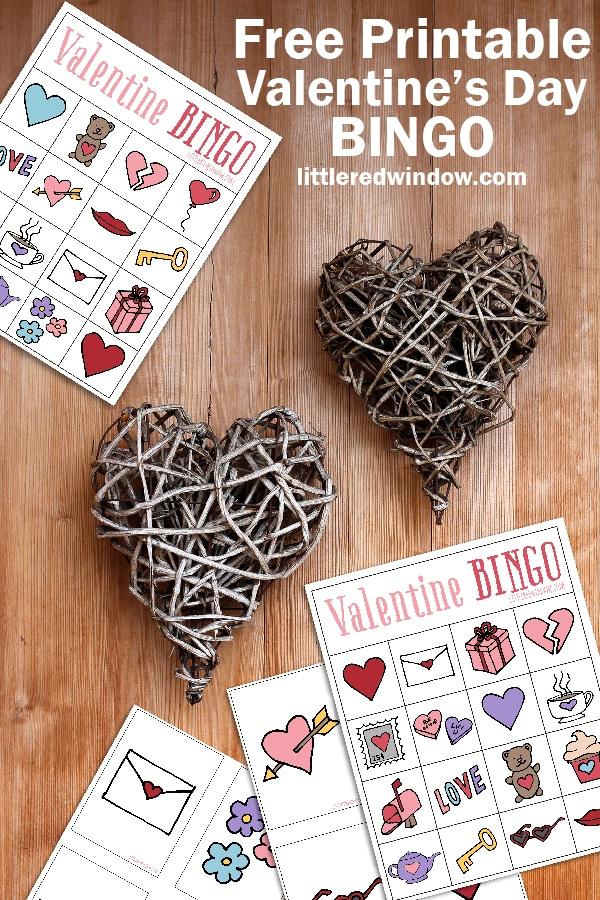 Valentine S Bingo Free Printable Little Red Window