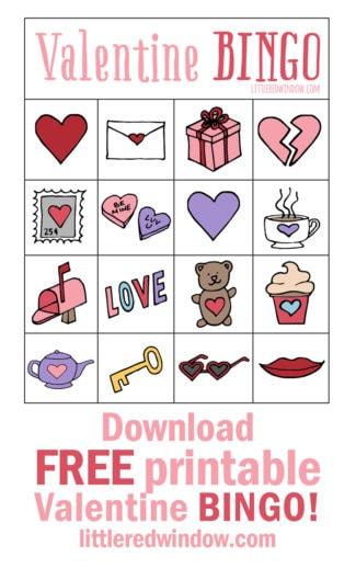 Valentine's BINGO – Free Printable