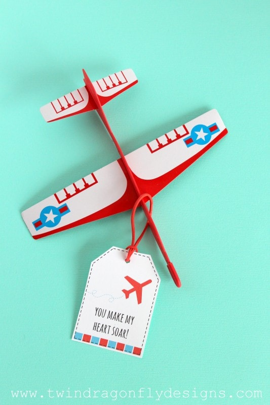 Airplane Valentines with Free Printable