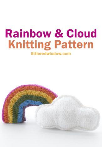 Cloud & Rainbow Knitting Patterns