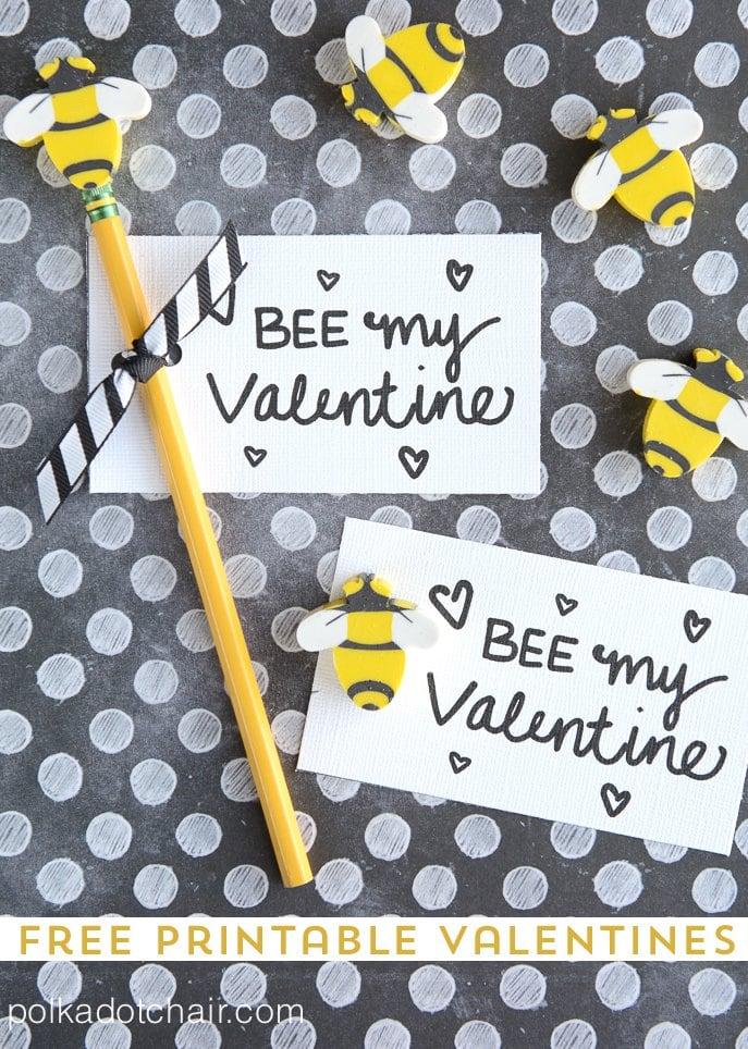 Free Printable Bee Valentines