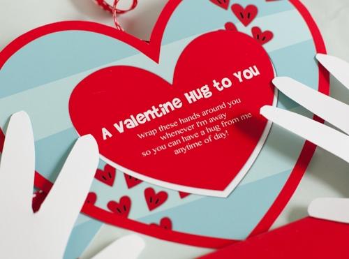 Free Printable: Valentine Hugs