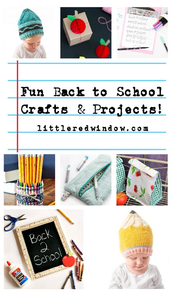 These fun back to school crafts & projects will help get you and your kids excited for the new school year!