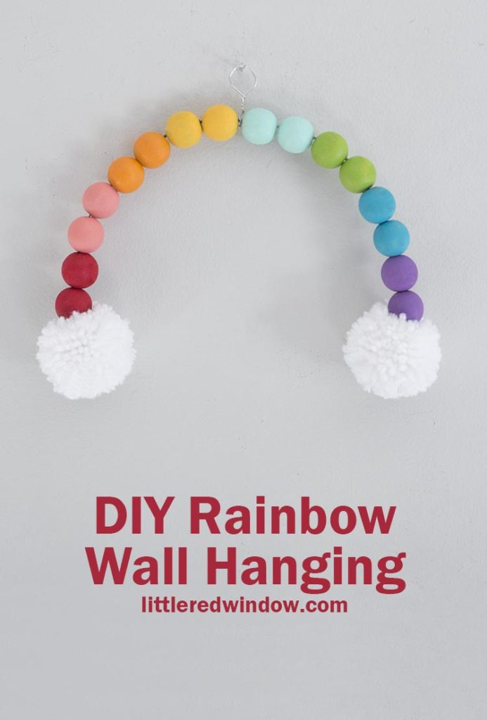 Brighten up your home decor with this fun rainbow wall hanging, this fun craft project is perfect for St. Patrick's Day or any day you need a little joy!