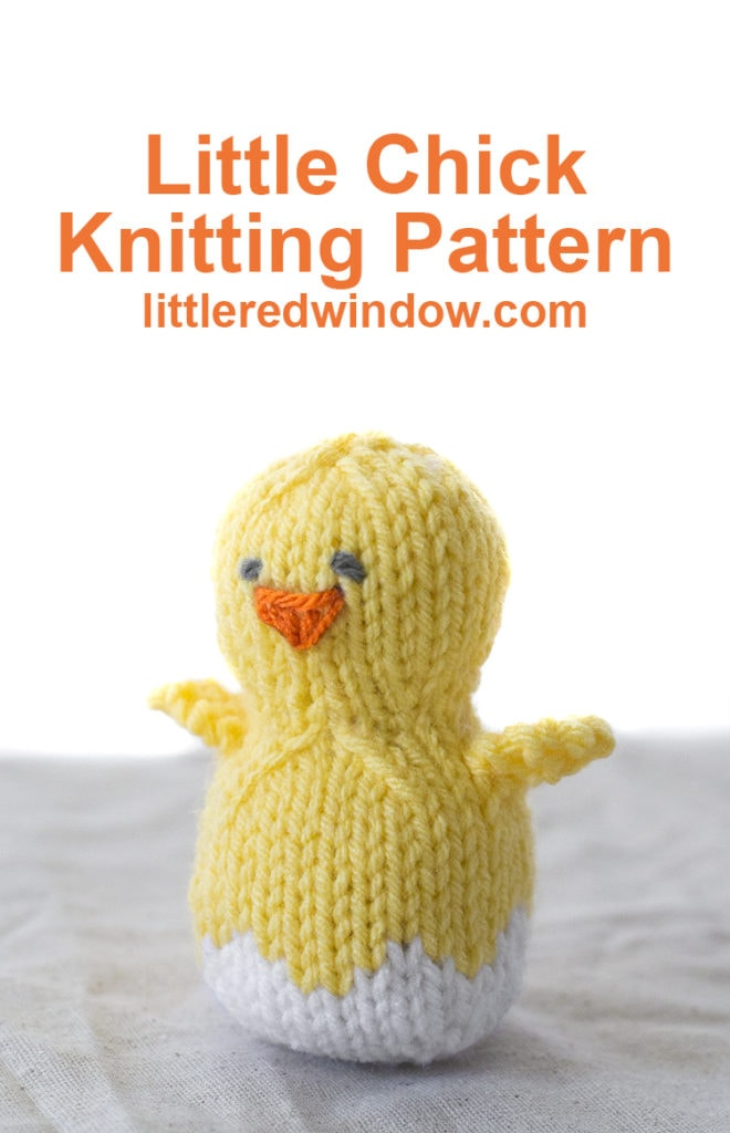 Knit up a cute little Easter Chick hatching out of his Easter Egg shell with this fun Easter Chick Knitting Pattern!