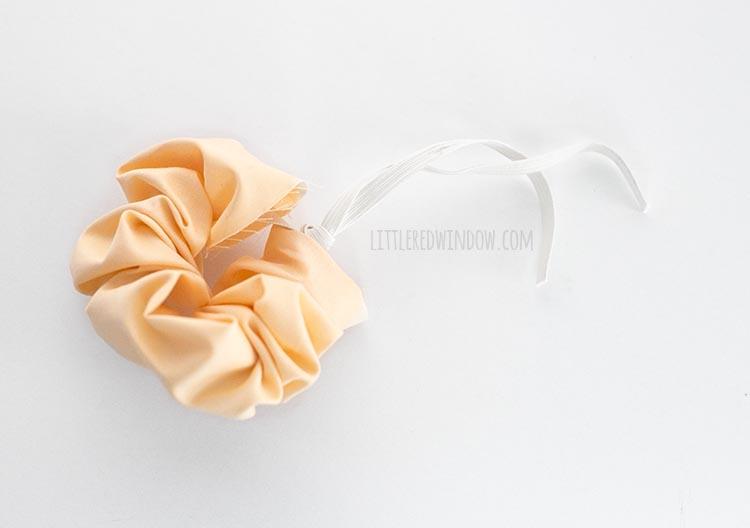Thread elastic through the fabric to make a scrunchie!