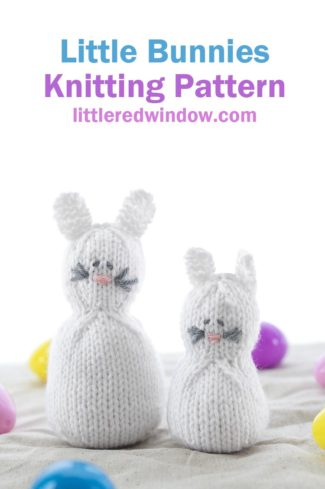 Knit up a cute mama and baby bunny with this adorable Little Easter Bunny Knitting Pattern!